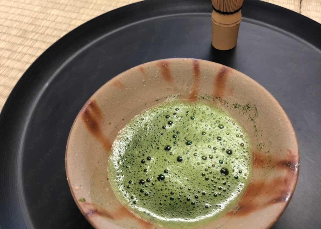 お茶のお点前体験のお茶の写真